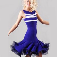 ballroom dance fitness - 2016 Ballroom Dance Dress Latin Dance Skirt Cha Cha Dance Dress Women Fitness Clothes Vestido De Baile Latino Regata Feminina