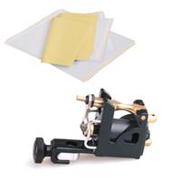 armature motor - Tattoo Stencil Transfer Paper Mini Shape Tattoo Machine Gun Lightweight Rotary Motor Liner or Shader Brass Armature Bar