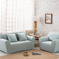 Wholesale Cotton Fabric Sofa Cover Sectional Sofa Covers Elastic Sofa Covers Striped Anti Mite Manta Sofa Slipcover Couch Cover For Room