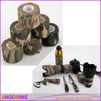 adhesive tape gun - Camo Army Outdoor Hunting Shooting Non Woven Bandage Self Adhesive Camping Camouflage Stealth Tape for Gun CMx4 M