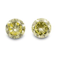 Wholesale 8 Cts Fancy Intense Yellow Loose Diamond Natural Color Round Cut Pair GIA Cert
