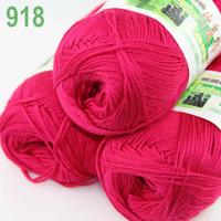 bamboo yarn lot - of skeins Soft Natural Smooth Bamboo Cotton Yarn Knitting Berry Pink