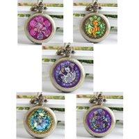 antique dash - Antique bronze vine Rainbow Dash Necklace My Little P Friendship Is Magic Jewelry New Pocket Watch Necklace