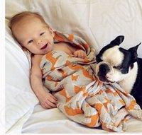 Wholesale Baby Muslin Swaddle Ins Wrap Blankets Aden Anais Swaddling Nursery Newborn Organic Cotton Bath Towels Robes Quilt cm KKA898