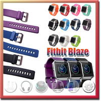 Wholesale Fitbit Blaze Bracelet Accessories Soft Silicone Replacement Sport Strap Band with Quick Release Pins for Fitbit Blaze