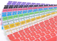 Wholesale 9 Candy Colors Silicone Keyboard Skin Cover For Apple Macbook Pro MAC Air Keyboard Covers C