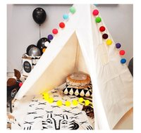 Wholesale Dream House Portable Indoor Playhouse Toy Teepee for Kids Folding Child Tent Kids Play Tent Indian Story Tipi for Childrens Family and Sleep