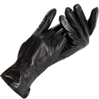 Wholesale Driver gloves Genuine Leather Cotton Adult Rice white Spandex Leather gloves men