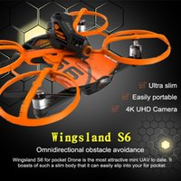 Wholesale Newest Wingsland S6 RC Drone WiFi With One Extra Battery K UHD Camera Comprehensive Obstacle Avoidance Pocket Selfie FPV