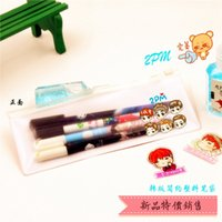 Wholesale 12pcs pm aoa bts got7 ikon infinite sj winner PVC pencilbag