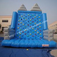 Wholesale AOQI adventure climbing games cheap price inflatable climbing wall outdoor amusement playground inflatable rock climbing for promotion