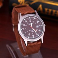 accurate calendar - Mens outdoor sports new watch soki canvas brand military watches automatic accurate calendar watch leisure fashion watches