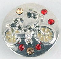 bicycle circle - Noosa Fashion bicycle Snap button crystal Metal DIY Noosa Bracelet Gift Bracelets mm Chunks Snap Button Jewelry
