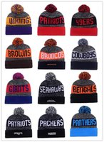 Wholesale 2017 New Season American Beanies All Football Teams Beanies Mens Sports Beanies Cheap Warm Women Knitted Hats
