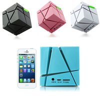 audio speaker designs - Magic Cube Design Colorful LED Flash Bluetooth Mini Speaker Wireless Portable Super Bass Sound Subwoofer Handsfree for iPhone Tablet PC