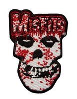 band misfits - 3 quot Misfits Bloody Skull Music Band LOGO Embroidered NEW IRON ON and SEW ON Patch Heavy Metal Custom design patch available