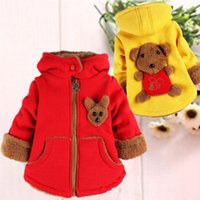 bear down jackets - Warm Winter Infants Baby Girls Boys Hooded Lovely Bear Pattern Cashmere Thicken Velvet Snow Wear Jackets Outwear Coats Parkas