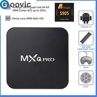 Wholesale MXQ Pro Android TV Box Quad Core Android WiFi Amlogic S905 HDMI Kodi Full loaded add ons Smart K TV Box
