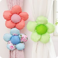 Wholesale Flower Curtain Tieback Buckle Colors Clamp Hook Fastener Home Decor Window Curtain Clips Accessories