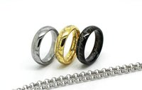 lord of the rings ring tungsten - Small Tungsten Lord Of The Ring With K Gold Plating Dome Ring