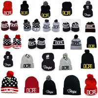 beanies dope - HOT Newest Autumn Winter Men Women Hats Hiphop Fashion Knitting Hats embroider DOPE Beanie Skull caps Wool Caps
