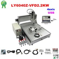 Wholesale 2200W four Axis CNC Engraver Engraving milling Machine CNC with USB Port and CNC part
