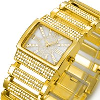 al gold - Mode Casual Luxury Women de impermeable de los relojes del del de del reloj de la aleación de acero inoxidable resistente al agua de Belbi