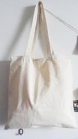 Wholesale eco friendly plain white cotton bag x34cm blank canvas shopping bag for DIY painting