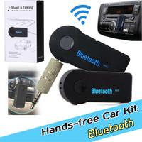 Audio sans fil mains libres Kit voiture Bluetooth EDUP V 3.0 musique Transmetteur Récepteur de musique stéréo Noir avec boîte de vente au détail