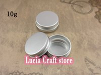 aluminium storage containers - 2pcs g mm Hand Cream Storage Empty Aluminium Cosmetic Pot Lip Balm Jar Tin Containers Screw Lid g