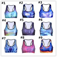 Wholesale 3D Digtial Printed Shaped Wire free Workout Vest Top for Girls Women s Yoga Bra S M L