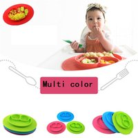 Wholesale Baby bowls kids tableware One piece silicone placemat Kid Pad Dining Table Mats baby eatingTray silicone cups dishes A0403