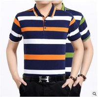 age marketing - 1688 foreign manufacturers inventory Big sale middle and old aged men s striped lapel mens t shirt to spread the market supply
