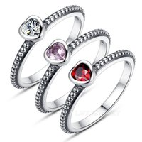 ba jewellery - DHgate Hot Sale Sterling Silver Love Heart Rings Compatible With Original BA Same Ring S925 Jewellery for Woman Wedding Various Colors
