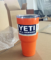 Wholesale 8 Colors YETI oz Cup Cooler YETI Rambler Tumbler For Travel Vehicle Beer YETI Mug Tumblerful Bilayer Vacuum Insulated Stainless Steel