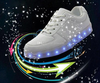 best leisure shoes - LED luminous shoes and ShoeBox men women fashion sneakers USB charging light up sneakers colorful glowing leisure flat shoes best price hot