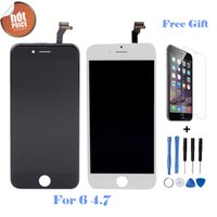Wholesale No Dead Pexel Screen For Iphone LCD Display Touch Screen Digitizer Assembly Free Tempered Glass