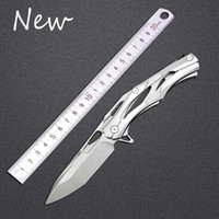Wholesale Huiwill Folding Tactical Knife with Cr18Mov Blade stainless Steel Handle Hunting camping pocket Knives Hand tools EDC tools