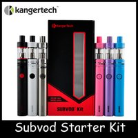 Wholesale High Quality Kanger SUBVOD Starter Kit with Kanger mAh SUBVOD Battery ml SSOCC Toptank subvod kit Nano Atomizer Gif Box DHL Free