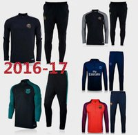 barcelona tracksuit - Best quality barcelona PSG soccer tracksuit chandal football Tracksuit training suit skinny pants Sportswear best quality