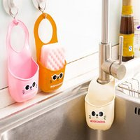 Wholesale HOT Kitchen Supplies Cartoon Sink Sponge PVC Hanging Shelving Rack Drain Faucet Storage Pail Shelves Hanging Shelving Filtered