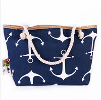anchor bag - DHL free lotClassical Women Ladies Fashion boat anchor Canvas Shoulder Bag New Hot Messenger Bag Summer Beach Handbag Bags Totes