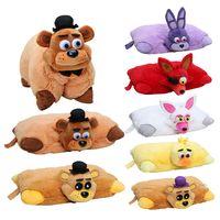 Wholesale cm cm Five Nights At Freddys plush Pillow fnaf Golden Freddy Fazbear Mangle chica bonnie foxy plush stuffed pillow doll toy