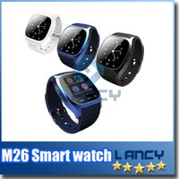 Wholesale 2016 New Bluetooth Smart Watches M26 for iPhone S Samsung S5 S4 Note HTC Android Phone Smartwatch for Men Women