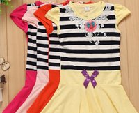 american chickens - 2016 New Mickey Chicken Also Embroidered Sleeve Lace Dresses Birthday Girls Dress With Bow XF178