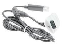 Venta caliente de carga USB cable de carga del cargador del kit de la cuerda del plomo para Microsoft Xbox 360 Wireless Controller de la consola de la batería