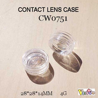 arcylic box - CW0751 small transparency arcylic round contact lens case mini multiuse plastic box g
