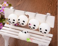 apples panda - Mini simulation expression Panda bags hang Key chain about cm Panda pendant wedding items children s toy Panda Squishy Key Chain