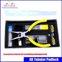 auto tricks - 2016 new arrival AB Tubular Padlock practice lock Accessories of lock for DIY assembling challenging tricks