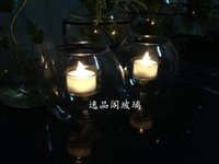 Wholesale Yiping Court Creative Glass candlestick Continental romantic candlelight dinner bar restaurant Decoration